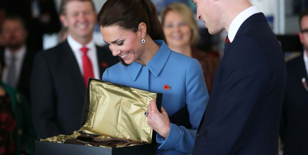 giving a gift to kate middleton