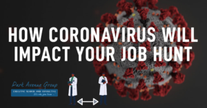 corononavirus on black background with 2 doctors socially distant