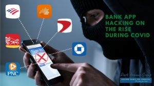 a man Hacking into someones phone trying to get into online banking