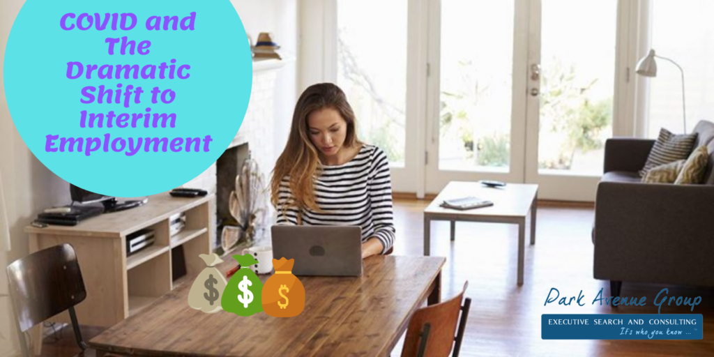 working from home with money bags